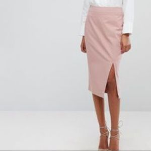 ASOS side slit pencil skirt midi